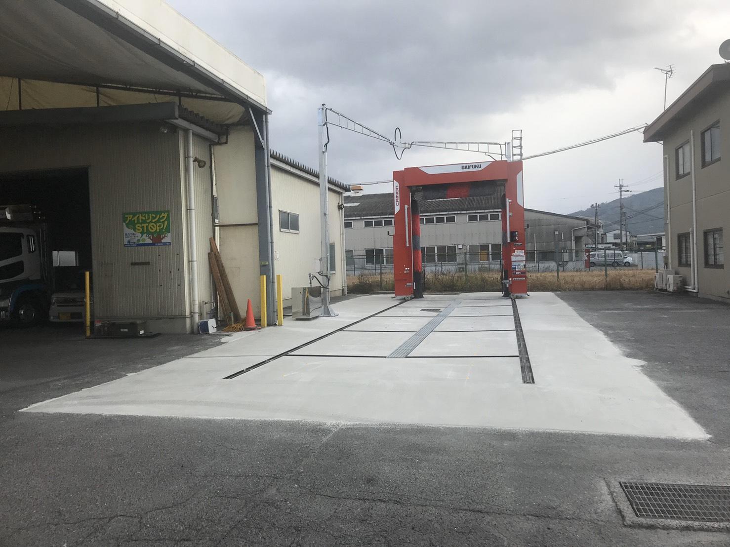 滋賀営業所に大型洗車機を導入しました。
